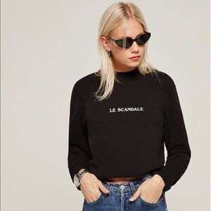Reformation Cullen Sweatshirt Medium M Le Scandale